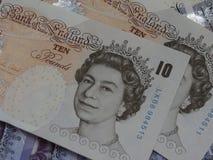 10 u. 20-Pfund-Anmerkungen Stockfotos