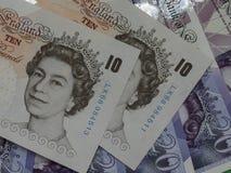 10 u. 20-Pfund-Anmerkungen Stockfoto