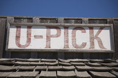 U Pick Sign Royalty Free Stock Photos