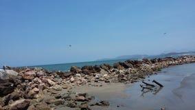 u. x22; Playa Linda& x22; Strand stockfoto