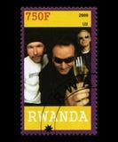 U2 Postage Stamp from Rwanda Royalty Free Stock Image