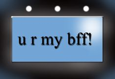 U r my bff Stock Photos