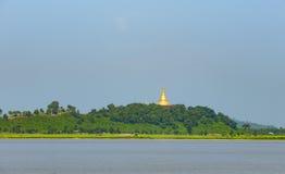 U Rit Taung Pagoda nel Myanmar Immagini Stock Libere da Diritti