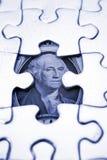 U.S. Één Dollar en Raadsel royalty-vrije stock foto