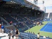 U S Öppen tennisåskådarläktaredomstol Royaltyfria Foton