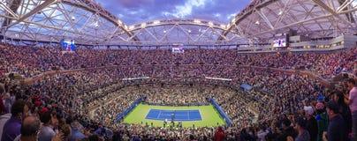 U S Öppna på Arthur Ash stadion i Flushing Meadows New York Royaltyfri Fotografi