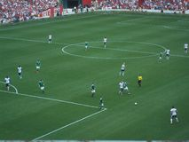 U S Εθνικά παιχνίδια ομάδας ποδοσφαίρου ενάντια στη Γερμανία στοκ εικόνες
