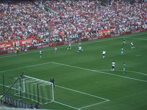 U S Εθνική ομάδα ποδοσφαίρου εναντίον της Γερμανίας Στοκ Εικόνα