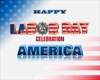 U S Εορτασμός της Εργατικής Ημέρας Στοκ Εικόνα