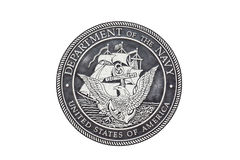 U S Επίσημη σφραγίδα ναυτικού στοκ φωτογραφία με δικαίωμα ελεύθερης χρήσης
