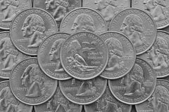 U S Κράτος Παρθένων Νήσων και νομίσματα των ΗΠΑ Στοκ Εικόνες