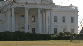 U S Λευκός Οίκος, ζουμ μέσα απόθεμα βίντεο