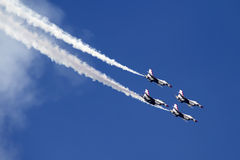 U.S. Πολεμική Αεροπορία Thunderbirds Στοκ εικόνα με δικαίωμα ελεύθερης χρήσης