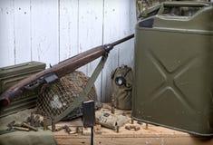 U S στρατιωτικός εξοπλισμός του Δεύτερου Παγκόσμιου Πολέμου στοκ φωτογραφία με δικαίωμα ελεύθερης χρήσης