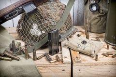 U S στρατιωτικός εξοπλισμός του Δεύτερου Παγκόσμιου Πολέμου στοκ εικόνα με δικαίωμα ελεύθερης χρήσης