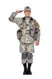 U.S. χαιρετισμοί στρατιωτών στοκ φωτογραφία με δικαίωμα ελεύθερης χρήσης