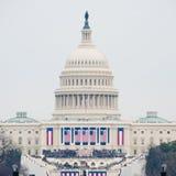 U S Капитолий на день вступления президента в должность 2017 Стоковые Фотографии RF