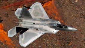 U S Летание двигателя бойца забастовки соединения военновоздушной силы F-35 (молнии II) стоковое изображение rf