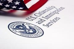 U.S. Отдел логоса безопасности родины Стоковые Изображения RF