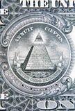 U S 一美元钞票细节 免版税库存图片