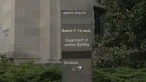 U S 司法部标志和大厦在华盛顿, D C 股票视频
