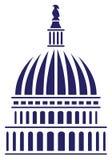 U S 国会大厦圆顶传染媒介例证 免版税库存图片