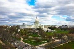 U S 国会大厦在就职典礼日2017年 库存照片