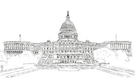 U S 国会大厦 库存图片