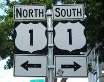 U S 寻址1签到基韦斯特岛,佛罗里达,美国 免版税库存照片