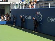 U S 打开网球巡边员 免版税库存图片