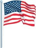U S 旗子传染媒介例证 皇族释放例证