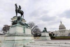 U.S. 格兰特雕象 免版税库存图片