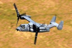 U S 海军陆战队员,响铃波音V-22白鹭的羽毛 免版税库存照片
