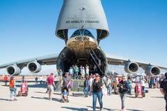 U S 空军队飞行表演在图森,亚利桑那 库存照片