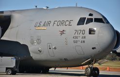 U S 空军队C-17 Globemaster III 免版税库存图片