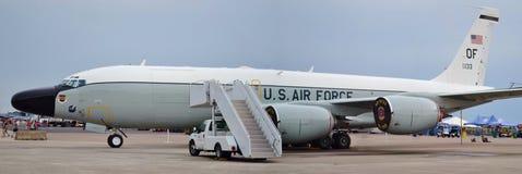 U S 空军队RC-135铆接 库存照片