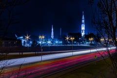 U S 空间和火箭队中心汉茨维尔, AL与 免版税库存图片