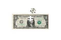 U.S. 美元难题 库存照片