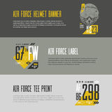 U S 航空器发球区域印刷品 免版税图库摄影