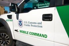 U S 边境巡逻车 图库摄影