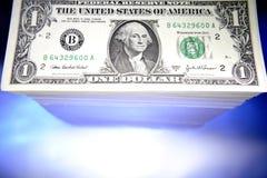U.S. $1.00 rekeningen Royalty-vrije Stock Foto's
