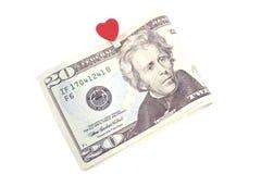 U.S. 10 Dollar getrennt auf Weiß Lizenzfreie Stockfotografie