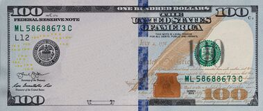 Free U.S. 100 Dollar Border With Empty Middle Area Stock Images - 217382184