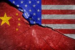 Конфликт между США и Китаем стоковые фото