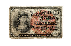 U.S. 1863 Fractional Currency Stock Photos