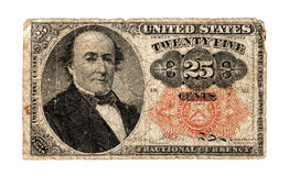 U.S. 1874  Fractional Currency Royalty Free Stock Image
