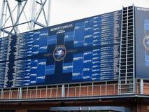 U S Abra el marcador del tenis Foto de archivo