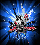 U.S.A. Abstract Music Background Royalty Free Stock Image