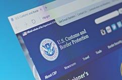 U S Aduanas y protección de la frontera Imagen de archivo libre de regalías