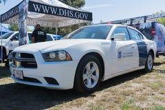 U S Aduanas y vehículo de la protección de la frontera durante Los Ángeles  Foto de archivo libre de regalías
